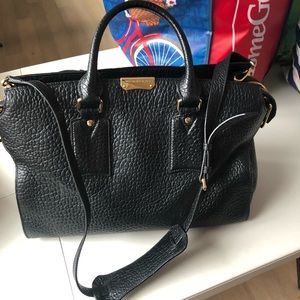 Pebble leather Burberry bag